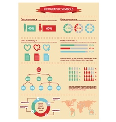 Detail infographic with human figurines vector image vector image