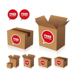 Free shipping and delivery set vector image