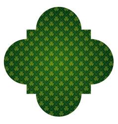 pattern shape label st patrick day clover vector image