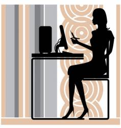 stylish office girl vector image vector image