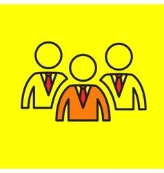 Team leadership group community vector