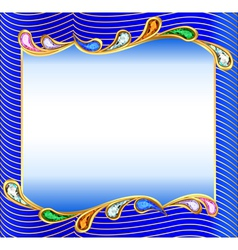 background with a wave of precious vector image vector image