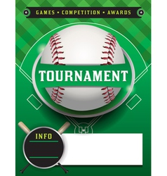 Baseball Tournament Template vector image vector image