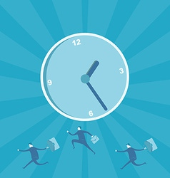 Business man running for time management vector image