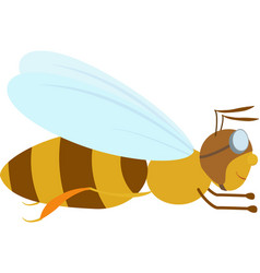 cartoon bee in aviator glasses vector image