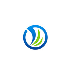 circle abstract design logo vector image