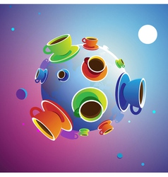 Coffee Planet vector image vector image