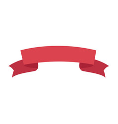 decoration ribbon banner ornament element vector image vector image