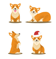dogs collection of icons vector image