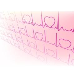Electrocardiogram waveform from EKG test EPS 8 vector image
