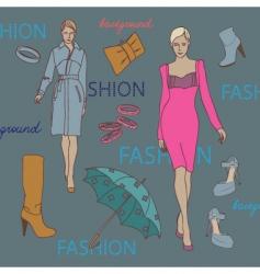 fashion elements vector image