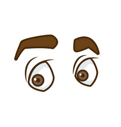 man eyes cartoon vector image