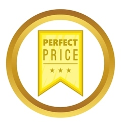 Perfect price pennant icon vector image vector image