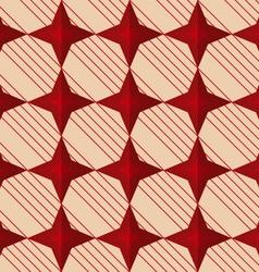 Retro fold red stars vector image vector image