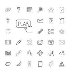 33 interface icons vector