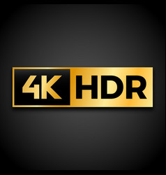 4k ultra hd symbol vector image