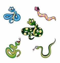 A Group of Snakes vector