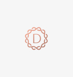 Abstract linear monogram letter d logo icon design vector