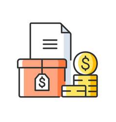 Accounts receivable rgb color icon vector
