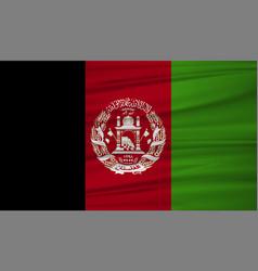 afghanistan flag afghanistan flag blowig in the vector image