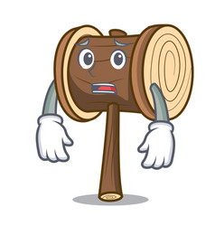 Afraid mallet mascot cartoon style vector