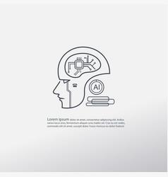 Ai logo icon mega trend robotic concept easy vector