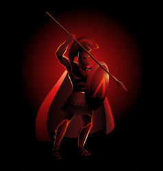 ancient greek warrior vector image
