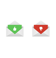 approved and rejected letters vector image