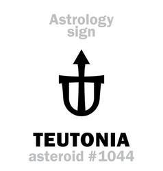 Astrology asteroid teutonia vector