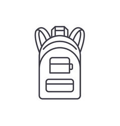 backpack line icon concept backpack linear vector image