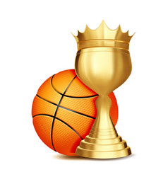 basketball award basketball ball golden vector image