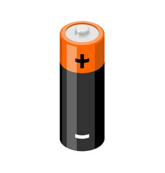 battery isolated accumulator on white background vector image