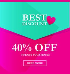 best discount 40 off vector image