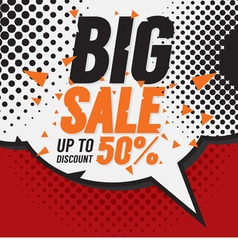 Big Sale 50 Percent vector image
