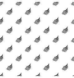 Birds wing with feathers pattern simple style vector