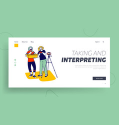 blogging unboxing broadcast expertise landing vector image