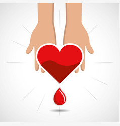 blood donation days icon vector image vector image