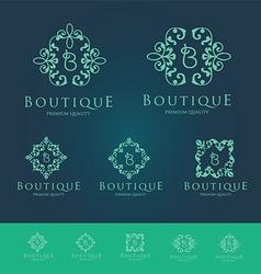 Boutique Floral Logo Set vector