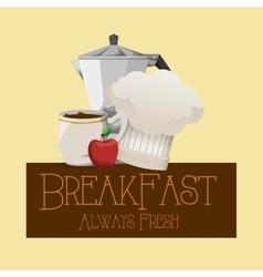 Breakfast always fresh nutrition vitamins poster vector