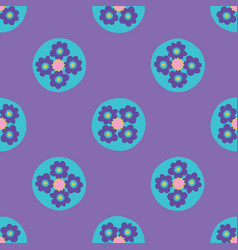 Bright floral dots seamless pattern hand vector