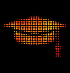 bright pixel graduation cap icon vector image