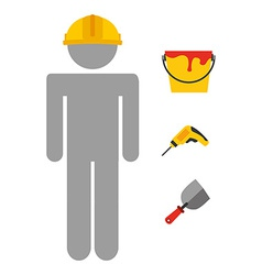 builder job vector image