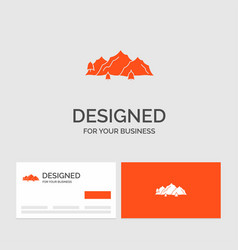 Business logo template for mountain landscape vector