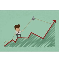 business man make a economic rebound growth eps10 vector image