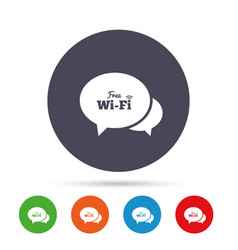 chat speech bubbles free wifi sign vector image