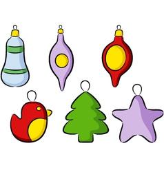 Christmas toys vector image