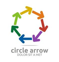 Circle arrow colorful design symbol icon vector