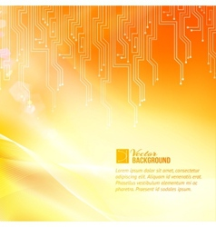 Colored circuit abstraction vector image