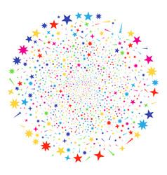 confetti stars exploding globula vector image