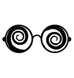 crazy eyes icon vector image